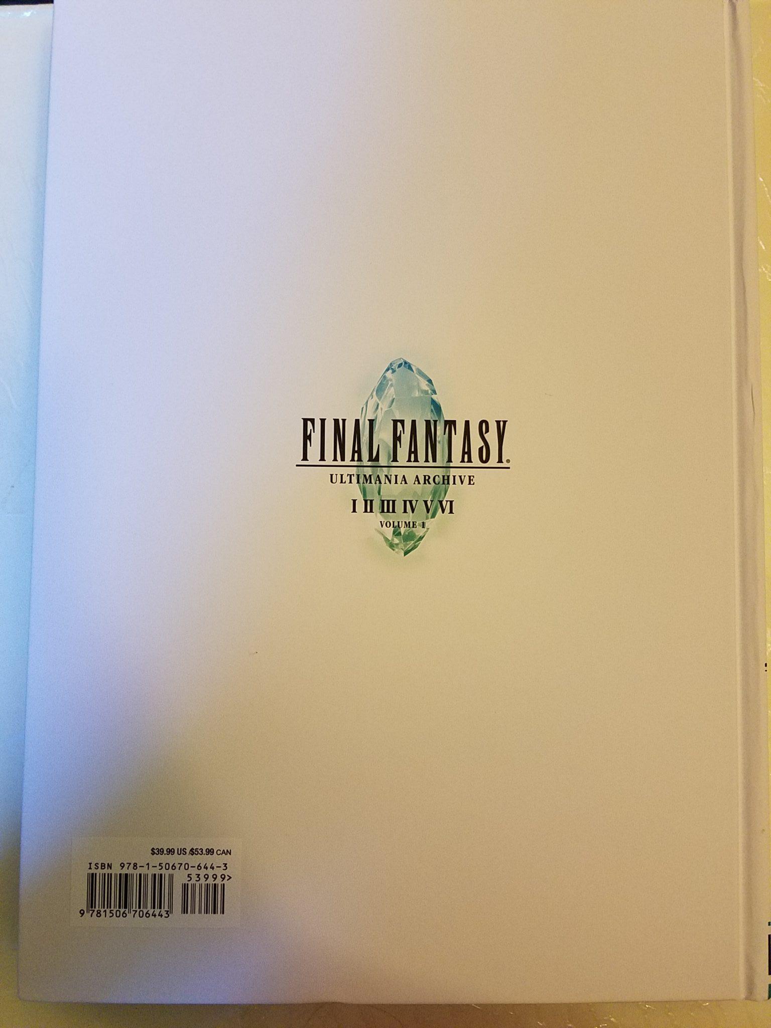 Final Fantasy Ultimania Archive 1 Back Cover