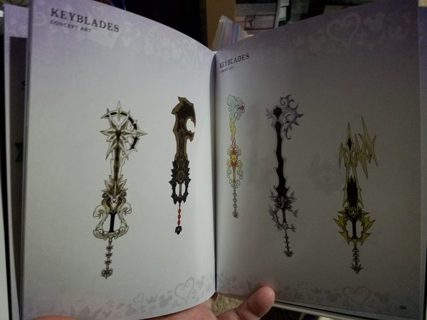 Kingdom Hearts III Deluxe Edition artbook weapons