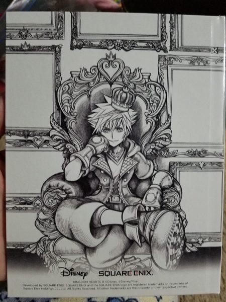 Kingdom Hearts III Deluxe Edition artbook back