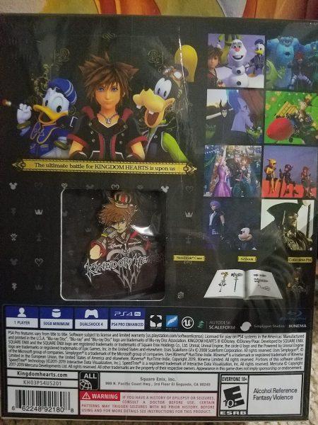 Kingdom Hearts III Deluxe back