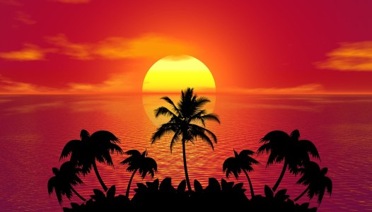 Summer Sunset Island
