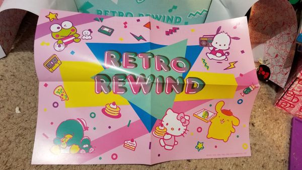 Hello Kitty Loot Crate Retro Rewind poster