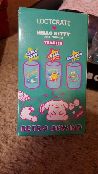 Hello Kitty Loot Crate Retro Rewind tumbler