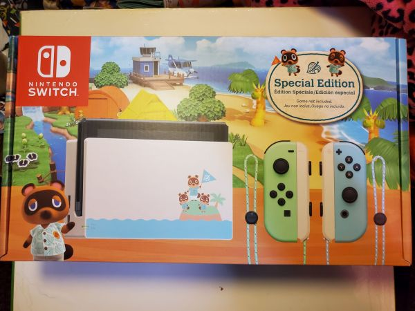 Animal Crossing Switch Console box