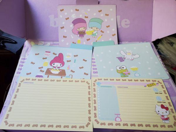 Hello Kitty Loot Crate Sweet Treats recipe cards