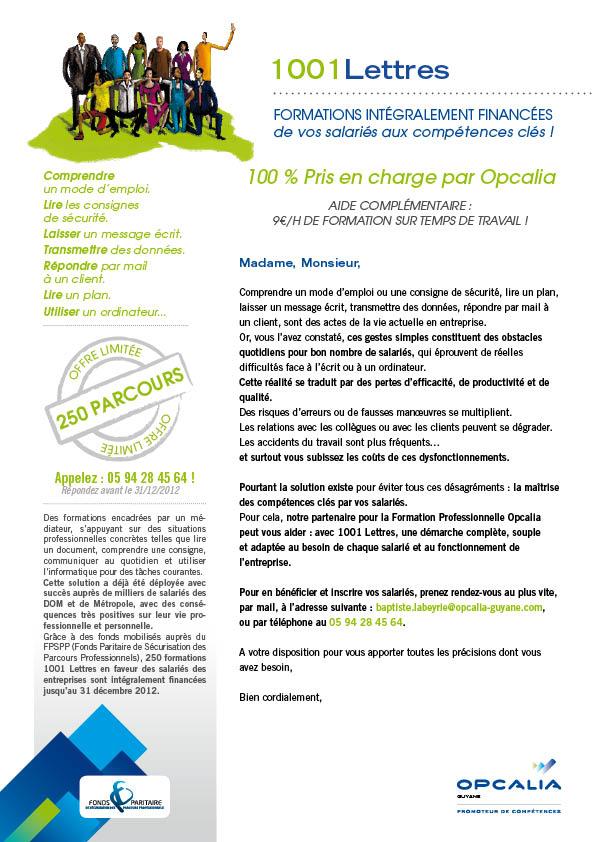 Mailing 1001 lettres pour Opcalia par DAJM communication RH