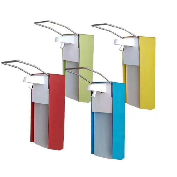 Ellbogenspender zur Wandmontage aus Aluminium mit 500 ml Flüssigkeitsbehälter in 4 Farben., Artikelnummer DKT-D1101