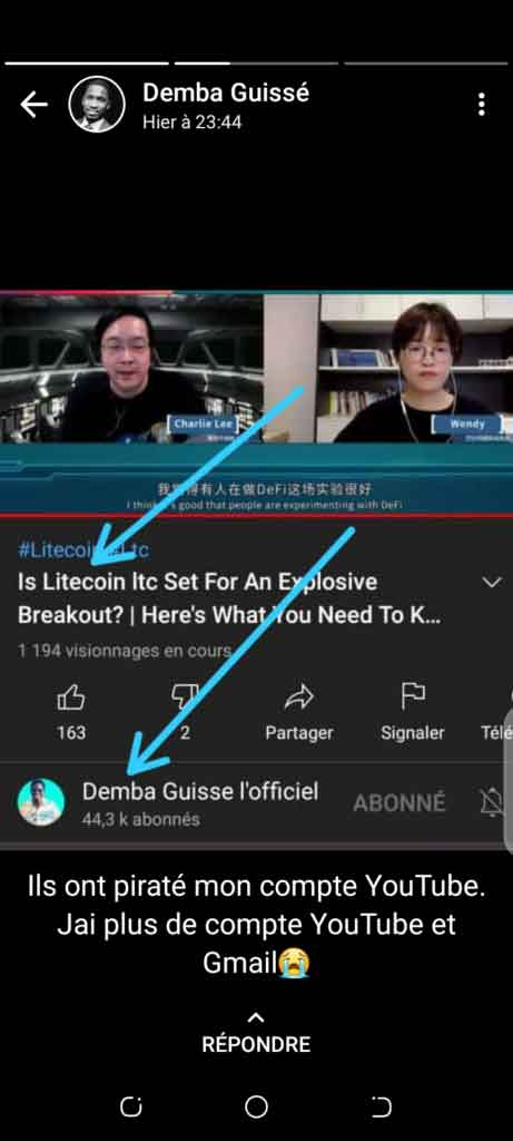 Demba Guissé se fait pirater sa chaine Youtube