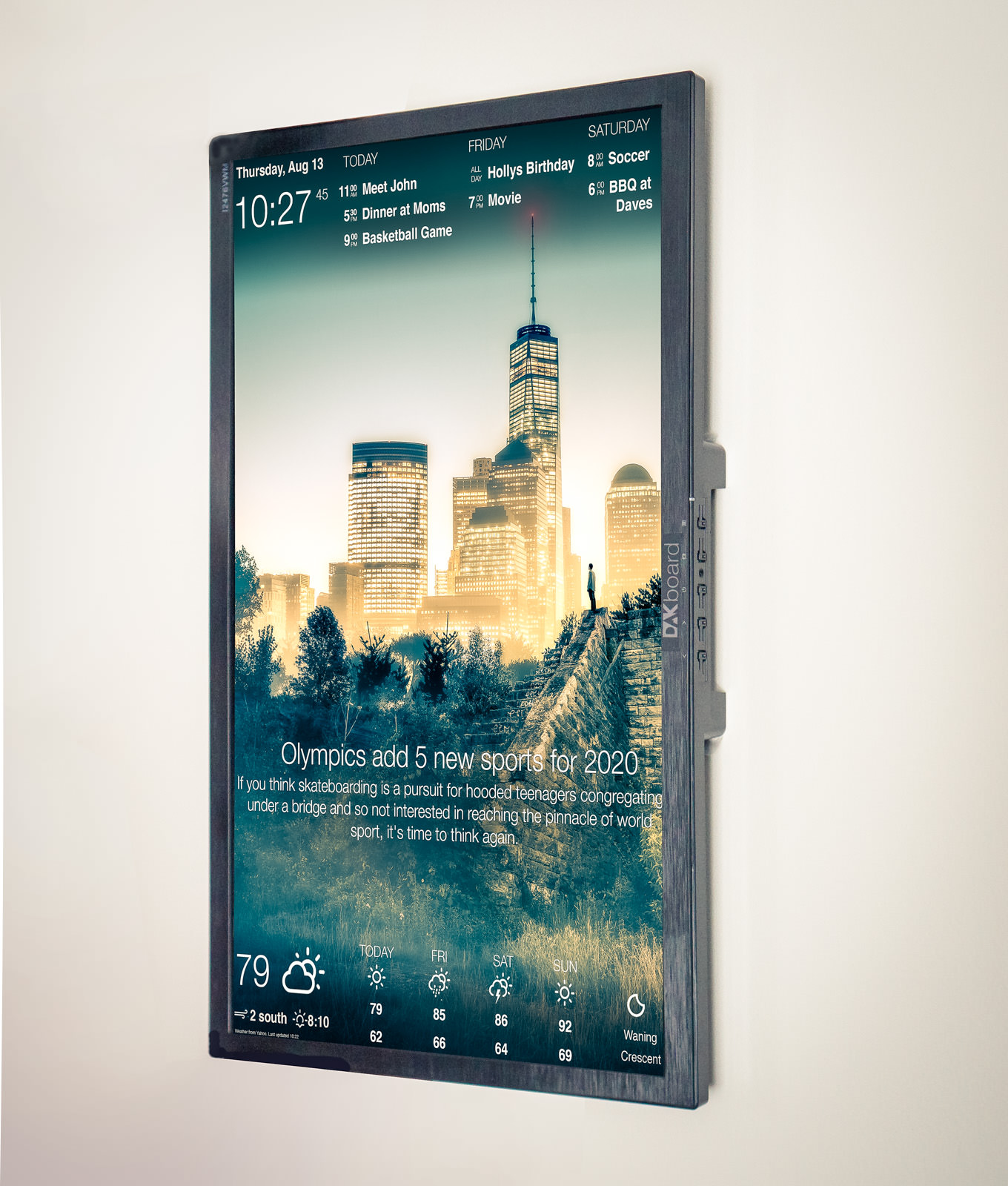 DAKboard  A customizable display for your photos
