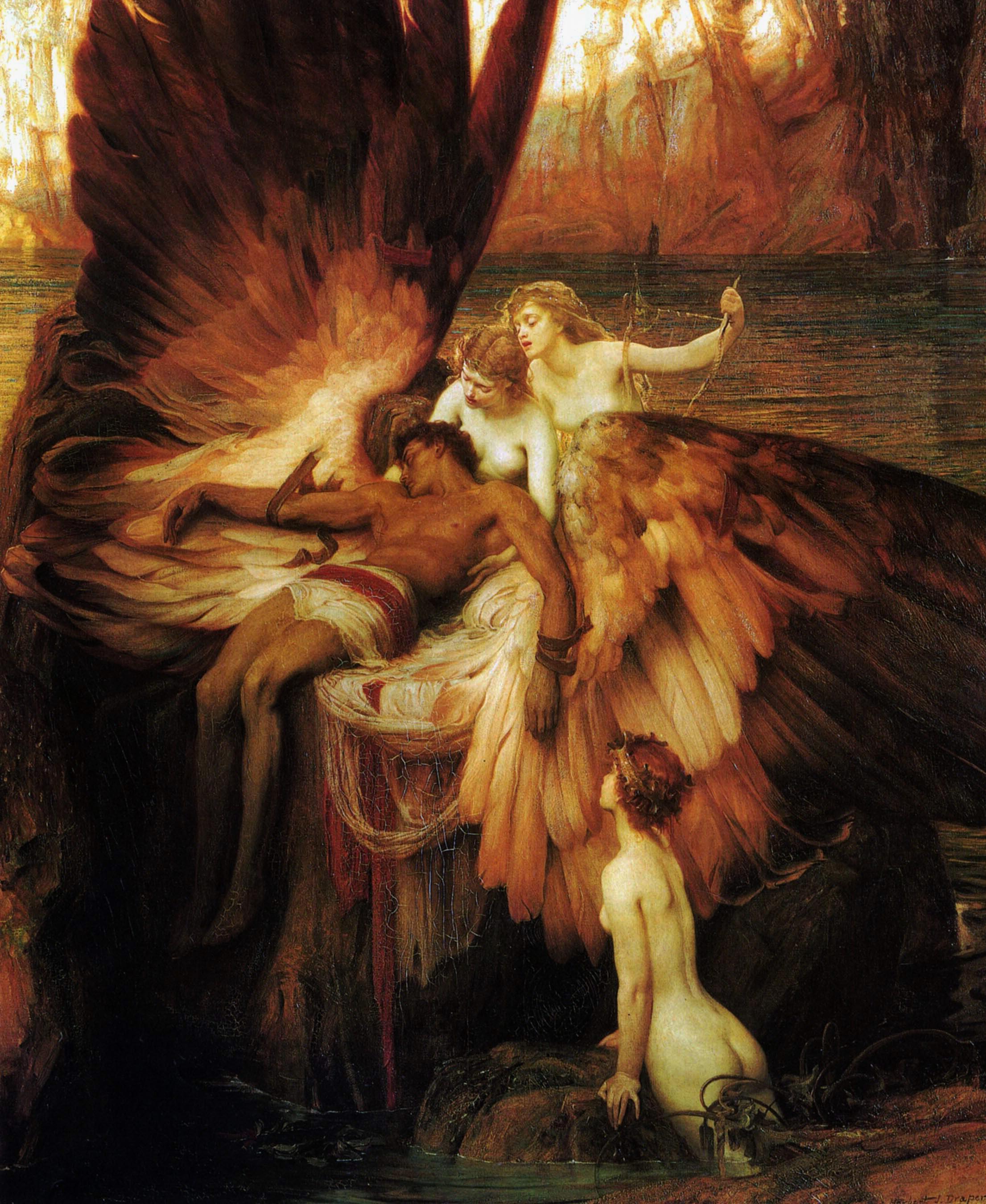 """Pagluluksa kay Icarus"" ni Henry James Draper"