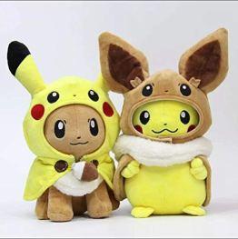 Pokemon Pikachu und Evoli Cosplay Plüschtier, 28cm