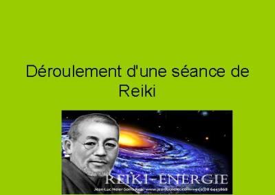Déroulement d'une séance de Reiki