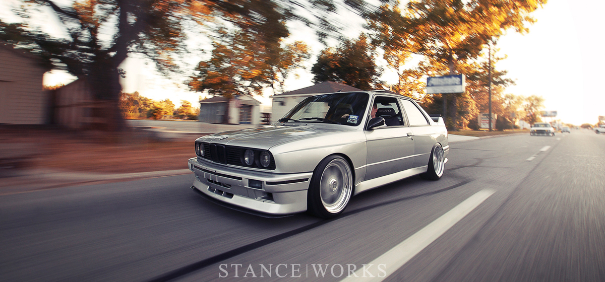 clean silver BMW E30 M3  dakos3