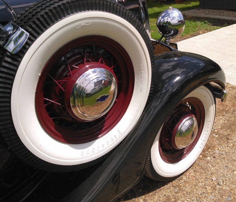Spare tire, 1936 Chevy half-ton pickup