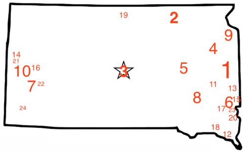 South Dakota towns ranked by Laura Allan, Movoto, 2014.04.18