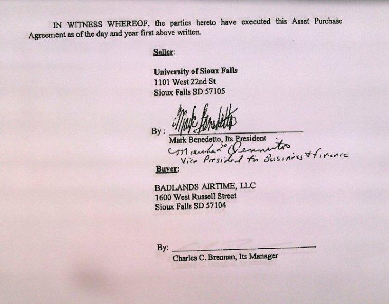 USF signature on USF–Brennan APA, 2015.05.20.