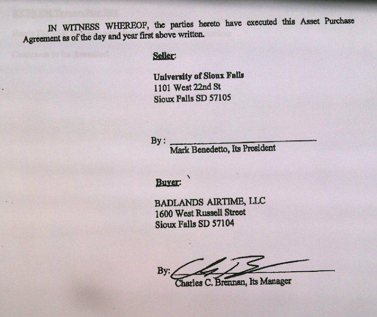 Brennan signature on USF–Brennan APA, 2015.05.20.