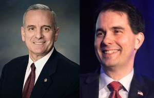Governor Mark Dayton, Minnesota, and Governor Scott Walker, Wisconsin