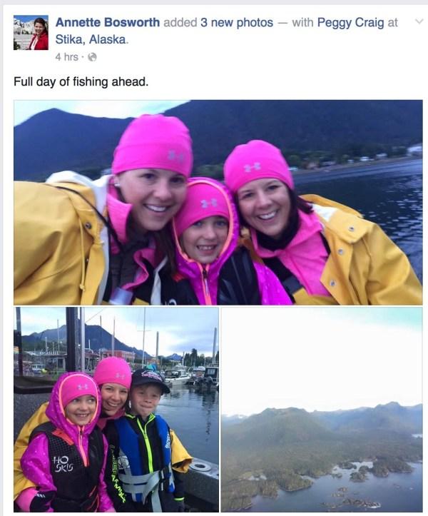 Annette Bosworth in Alaska, Screen cap, Facebook, 2015.08.27