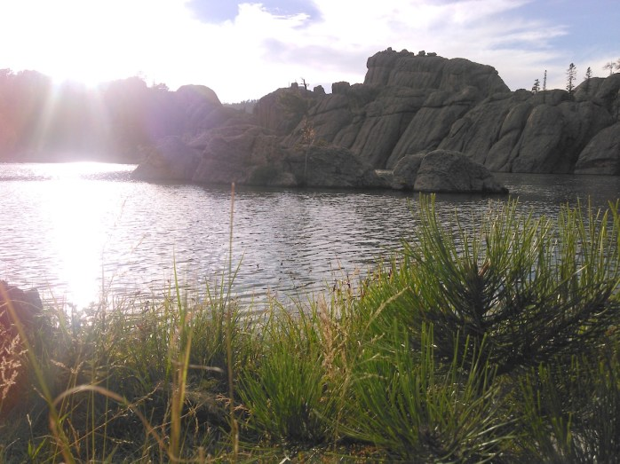 Along the north shore of Sylvan Lake