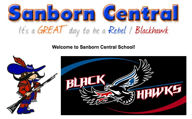 School logos displayed on Sanborn Central website, downloaded 2016.04.14.