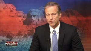 Senator John Thune shows the effects of TV news.