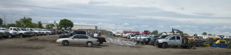 Parking at Huron staging area for Dakota Access pipeline. Photo: Mary Lou Davis, 2016.05.27.