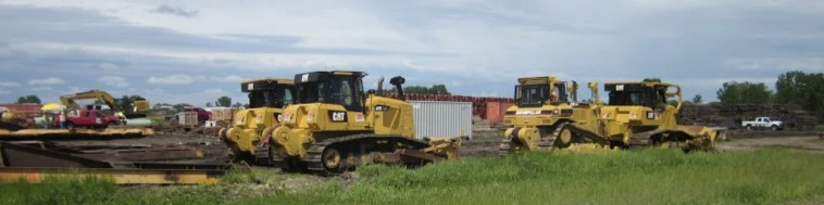 Earth-moving equipment at Huron staging area for Dakota Access pipeline. Photo: Mary Lou Davis, 2016.05.27.