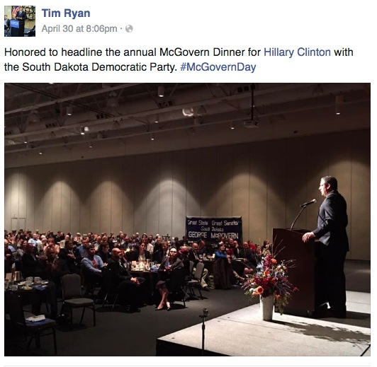 Congressman Tim Ryan, Facebook post, 2016.04.30 20:06 CDT.
