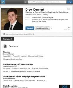 Drew Dennert, Prairie Country PAC board member, endorsing himself?