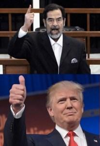 Saddam Hussein, Donald Trump