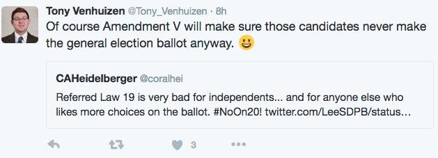Tony Venhuizen, Tweet, 2016.08.15.