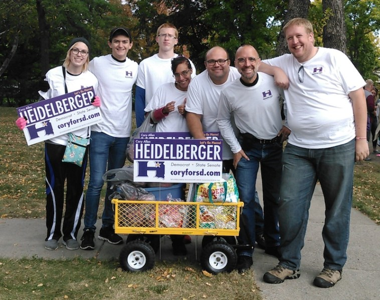 The best campaign team in today's parade! Thanks, Hayden, Briggs, Colton, Samantha, Ryan, and Toby!