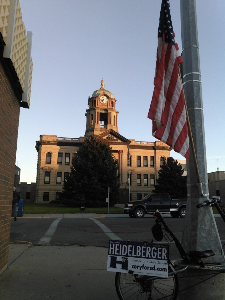 Brown County Courthouse at sunrise, Election Day, November 8, 2016.