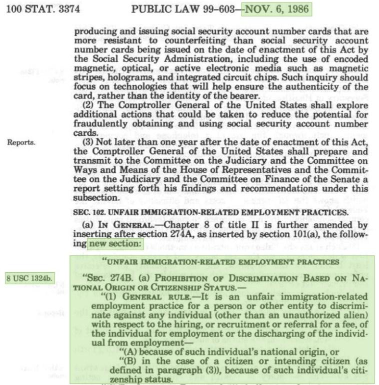 Public Law 99-603—Nov. 6, 1986
