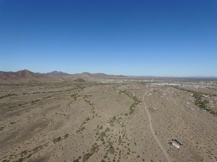 Aerial view, Quartzsite, AZ, 2017.01.29.