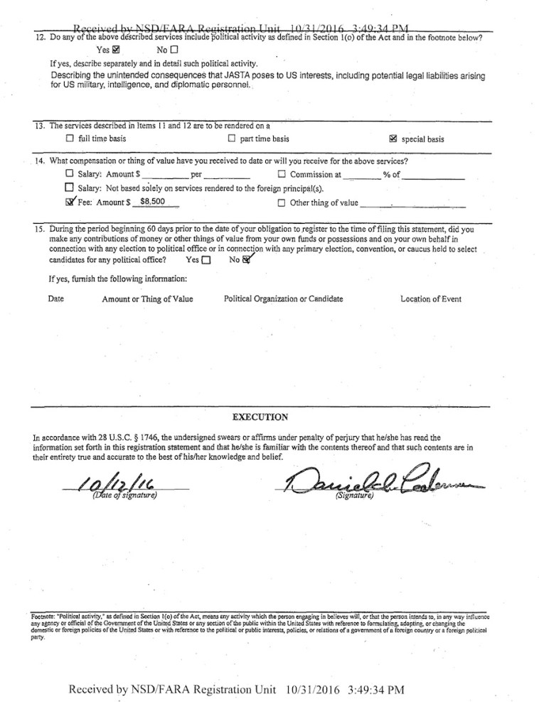 Dan Lederman to USDOJ, Registration as foreign agent, signed 2016.10.12, p.2.