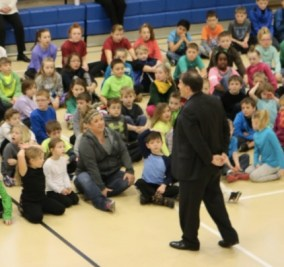 During Catholic Schools Week, Senator Rounds visited St. Joseph's Elementary in Pierre, where he assures us there won't be vouchers.