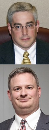 On top: Chief Deputy Attorney General Charlie McGuigan. On bottom: Part-Time Deputy Union County State's Attorney Jason Ravnsborg.