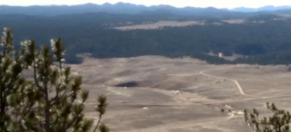 Pe' Sla, Black Hills, South Dakota. Screen cap from KOTA-TV, 2017.03.24.
