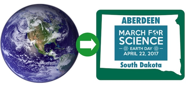 Earth Day March for Science April 22 2017 Aberdeen South Dakota