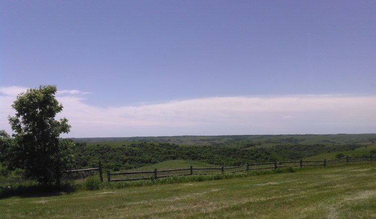 View from the Sutton porch, south toward the North Fork of the Whetstone Creek.