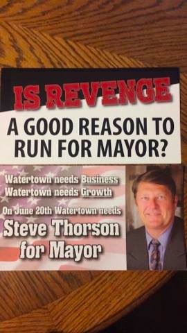 RushmorePAC postcards attacking Caron, supporting Thorson, front.