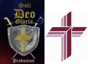 Soli Deo Gloria and LCMS logos, compared for journalistic purposes.