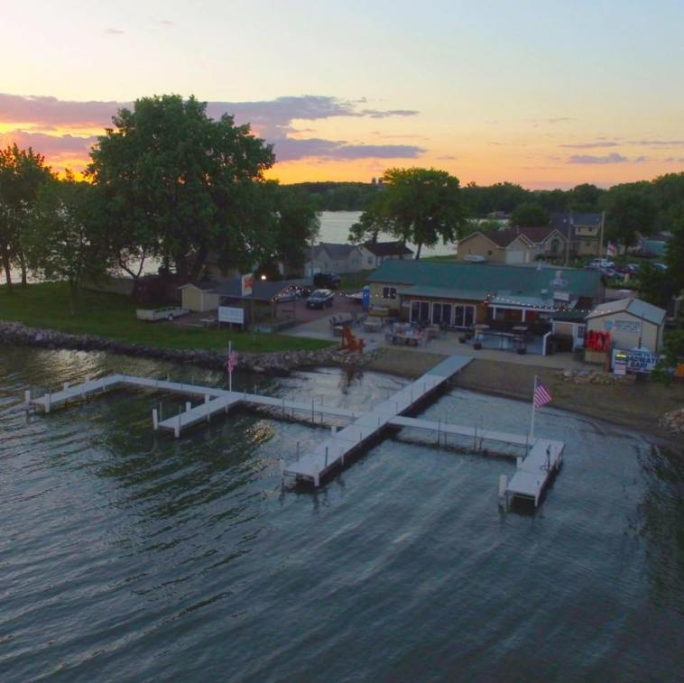 The Broadwater Bar in summer, Lake Madison, South Dakota, from Facebook, 2017.07.21.