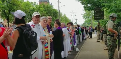 Screen cap, ACLU of Virginia video from Charlottesville protest, 2017.08.12.