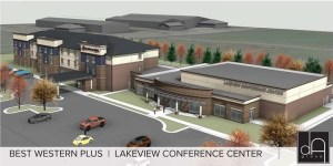 Lakeview Conference Center, artist's rendition, posted by Lake Area Improvement Corporation, 2017.11.10.