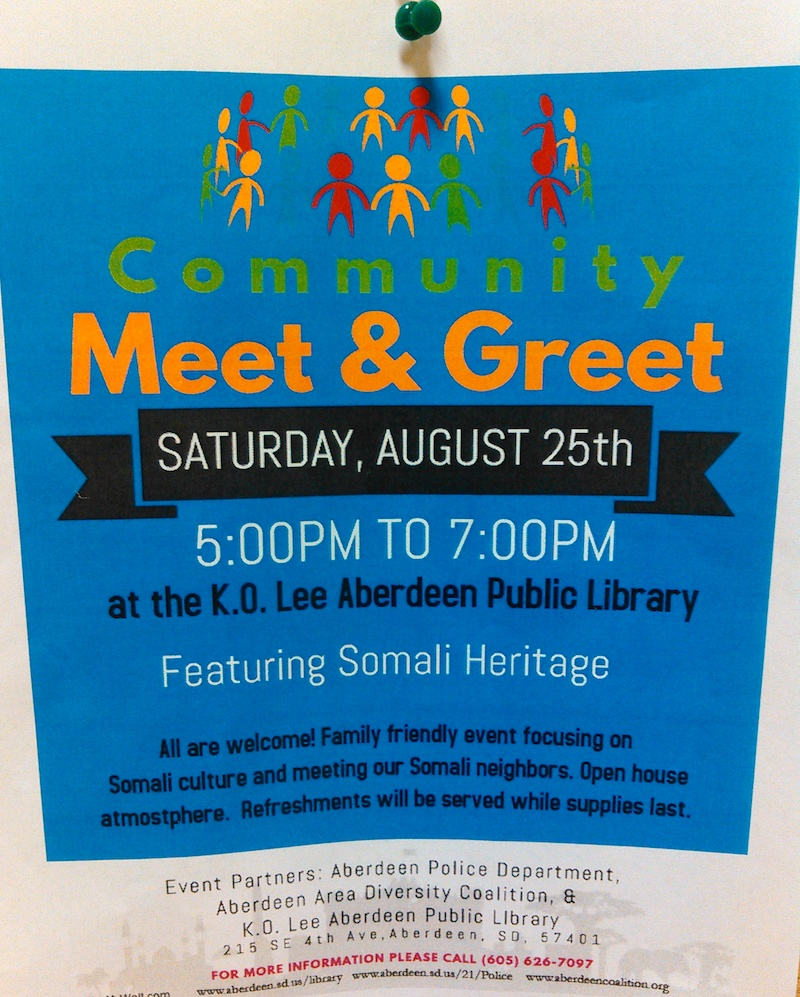 Community Get-Together Featuring Somali Culture Saturday, August 25