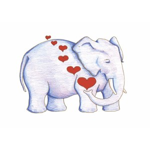 """Elephant Love"" by Dakota Midnyght Art"