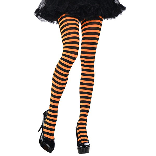 8ecf6e0977a72 Orange/Black Striped Tights – Adult Standard – Dakota Party
